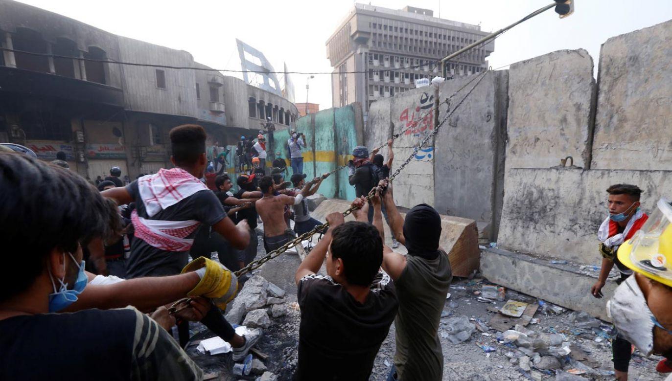 Tzw. Zielona Strefa w Bagdadzie znów jest zagrożona (fot. Murtadha Sudani/Anadolu Agency via Getty Images)