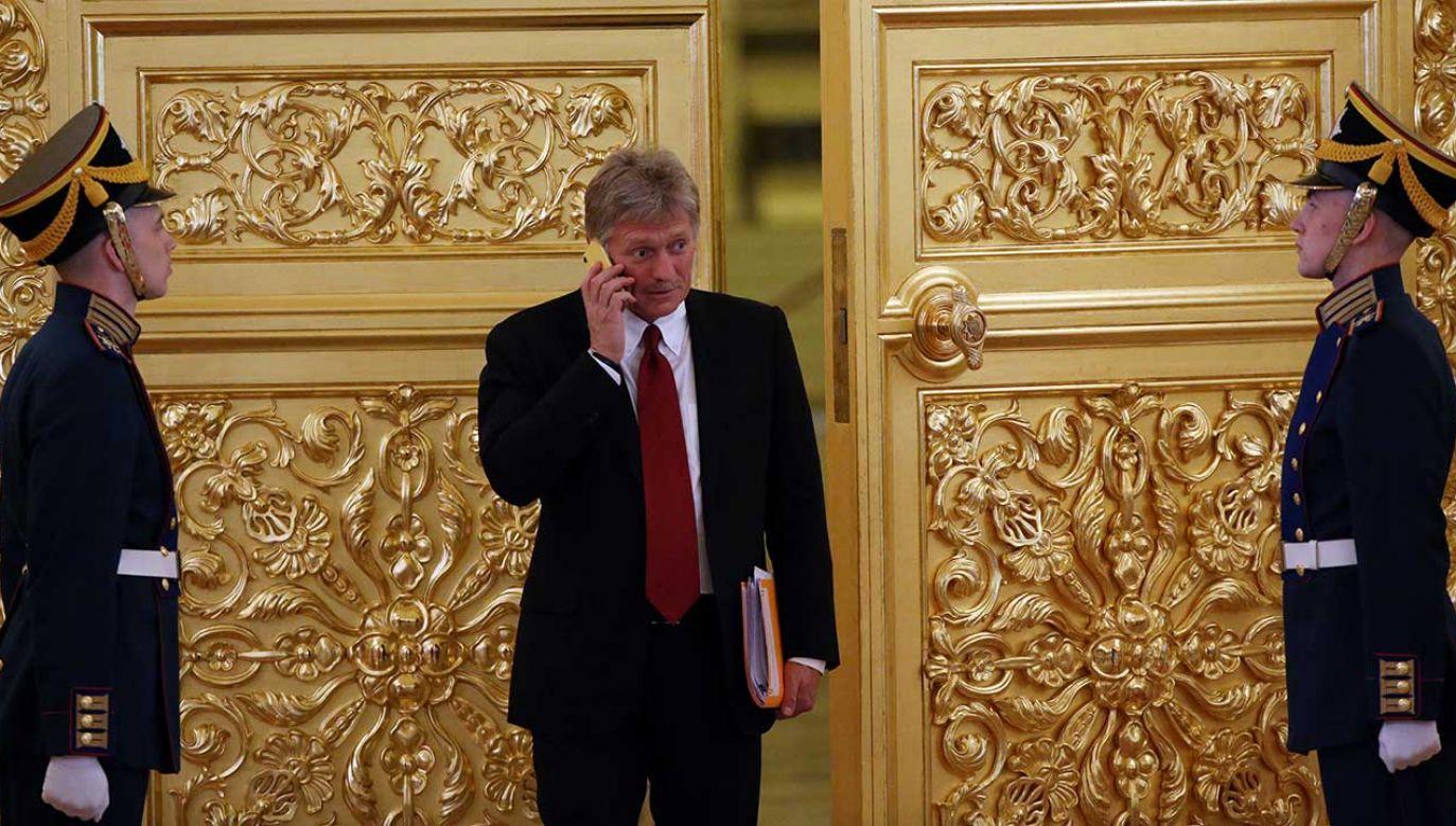 """Rzecznik Kremla Dmitrij Pieskow uważa, że """"nie można mówić o zwycięstwie dyplomatycznym Moskwy, a o zwycięstwie zdrowego rozsądku"""" (fot. Mikhail Svetlov/Getty Images)"""