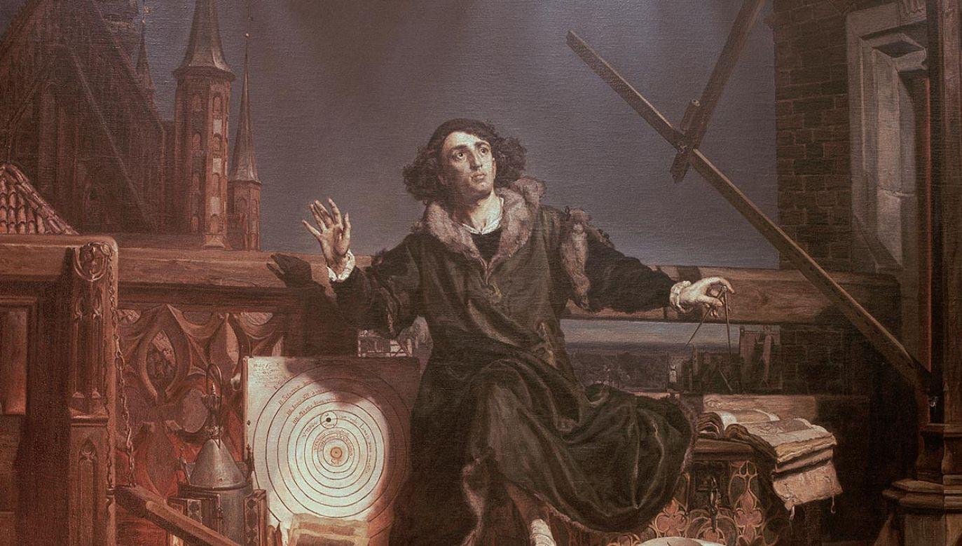 """Obraz """"Astronom Kopernik, czyli rozmowa z Bogiem"""" (fot. Paul Almasy/Corbis/VCG via Getty Images)"""