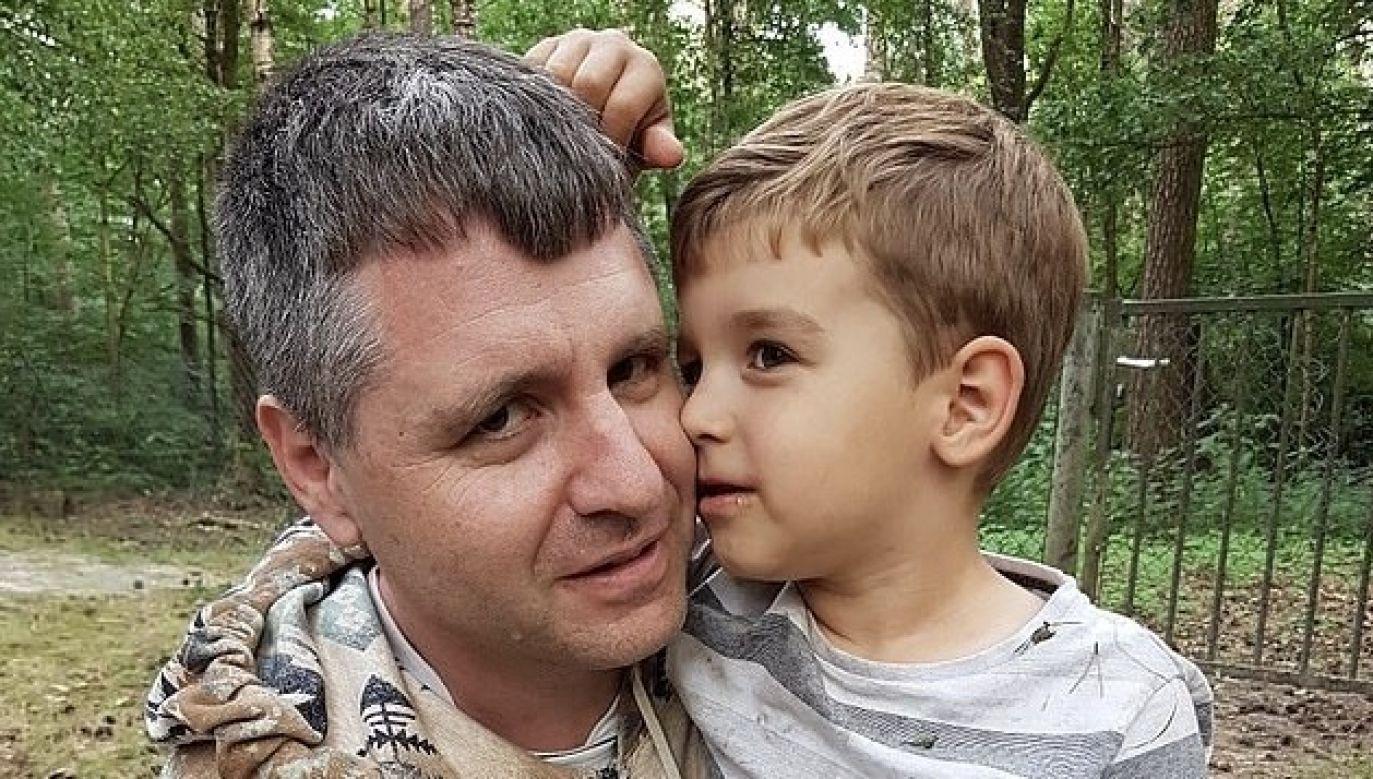 Conrad Hertog z synem (fot. Archiwum rodzinne)