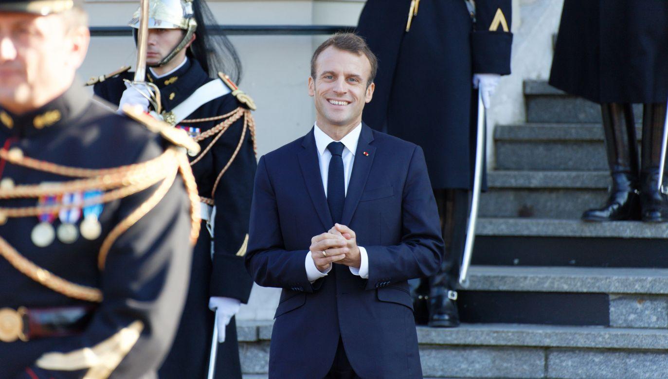 Premier Francji Emmanuel Macron. Fot. Sylvain Lefevre/Getty Images