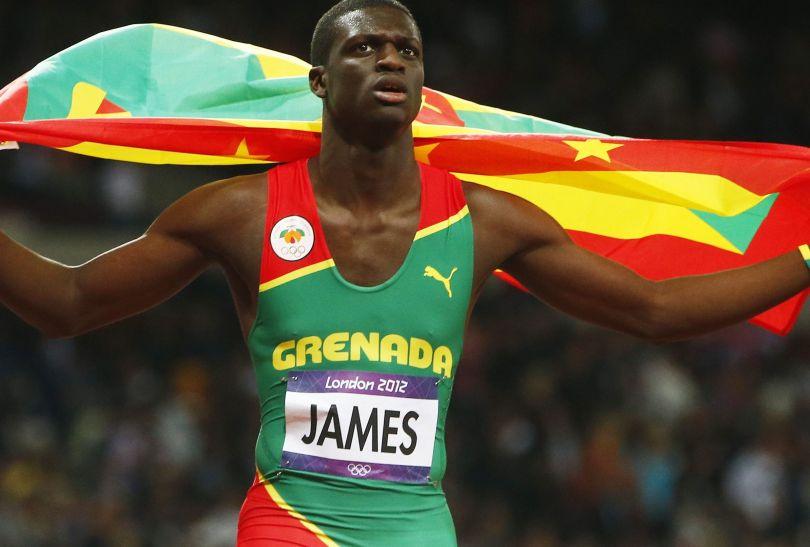 Kirani James z Grenady zdobył pierwszy w historii medal dla tego kraju, wygrywając bieg na 400 metrów (fot. PAP/EPA)