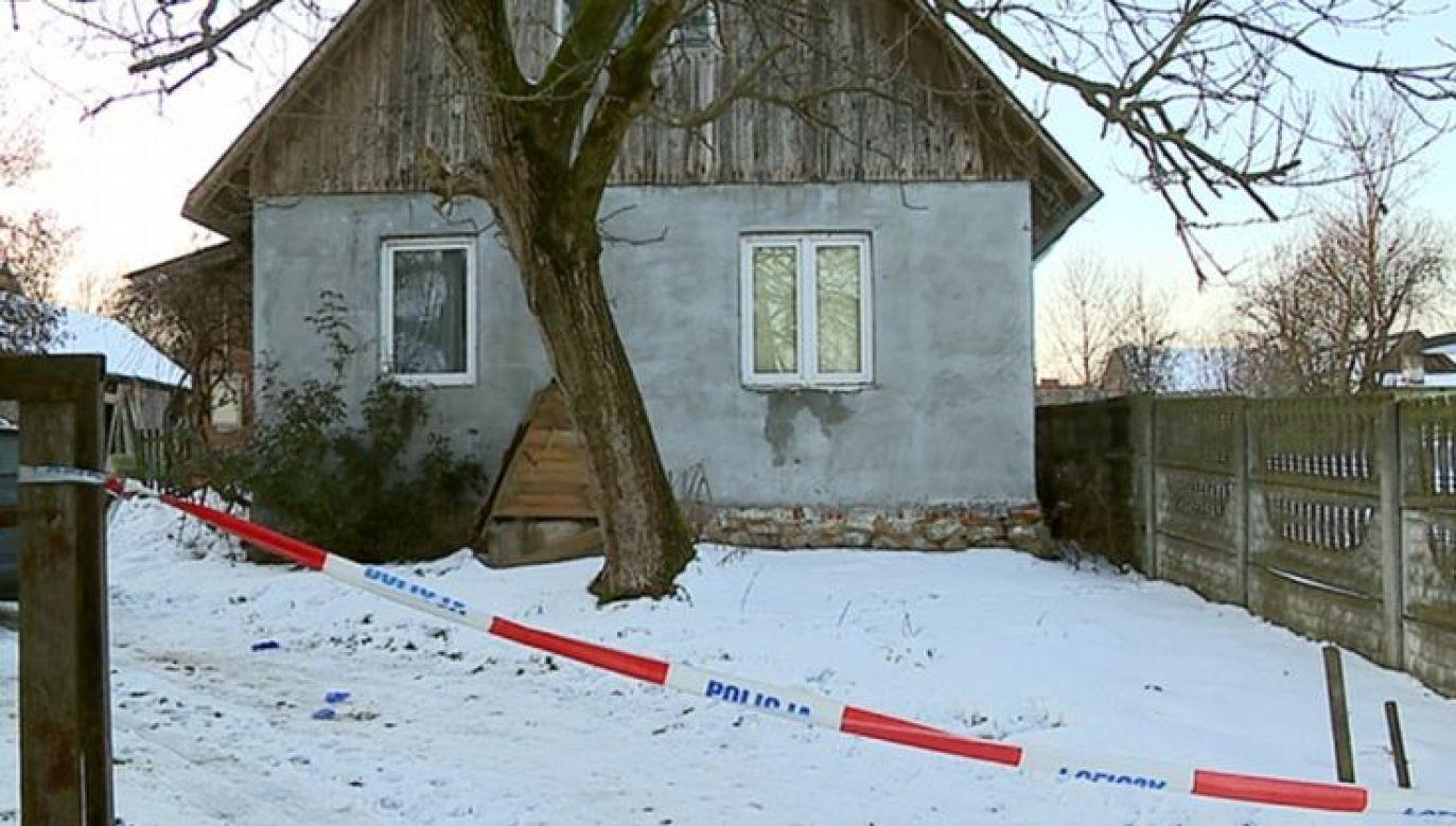 Zwłoki były nadpalone (fot.TVP Rzeszów)