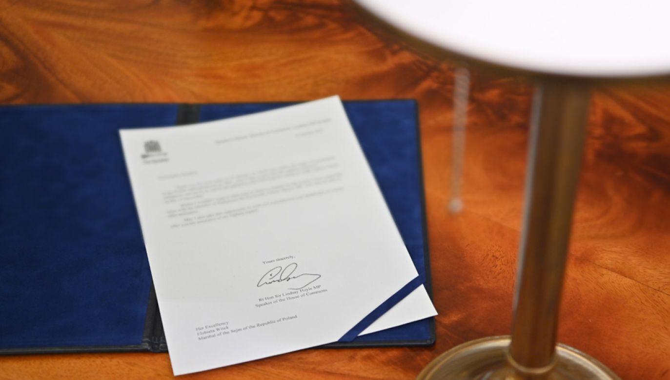 Elżbietra Witek wystosowała list do spikera Izby Gmin ws. Polaka przebywającego w szpitalu w Plymouth (fot. Twitter/@elzbietawitek)