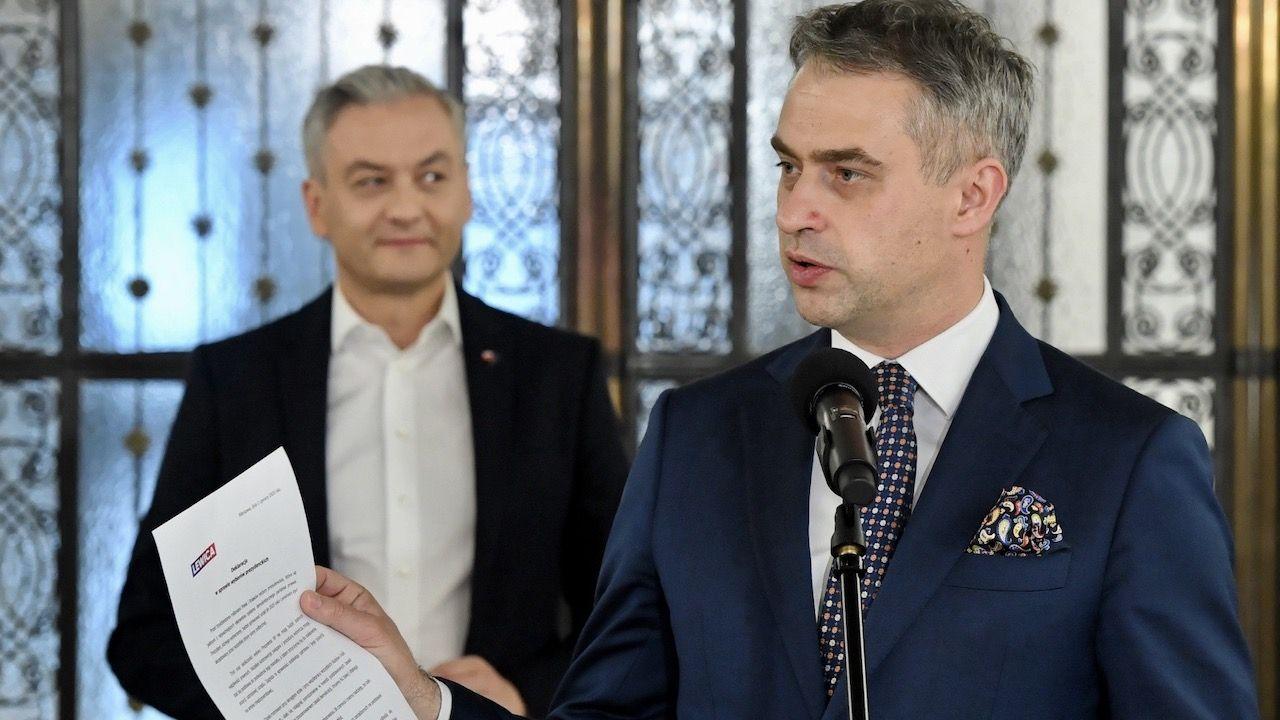 Krzysztof Gawkowski mówił też co go niepokoi w związku z wyborami (fot. PAP/Radek Pietruszka)