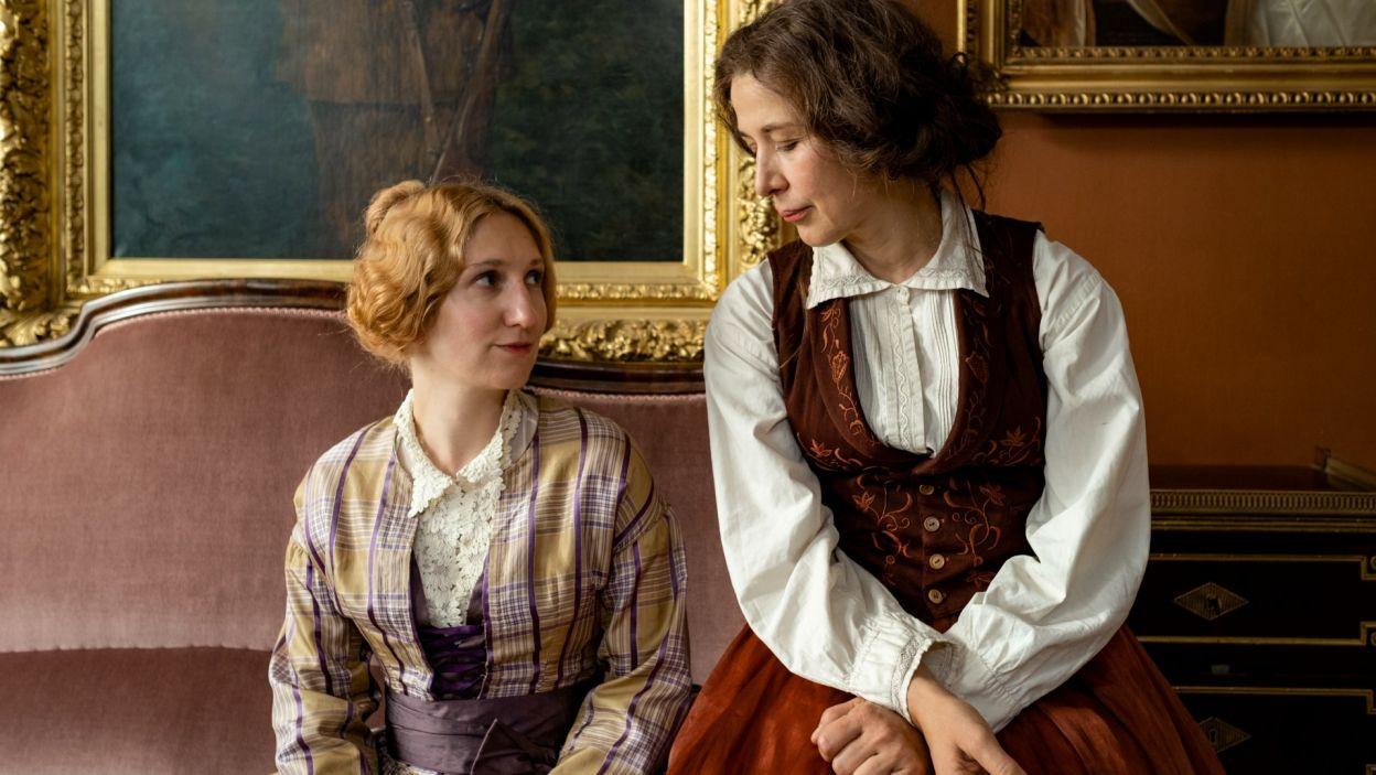 Klara Bielawka wykreowała postać uczennicy Chopina, panny de Rosiers, zwanej Rozjerką (fot. Zuza Szamocka/TVP)