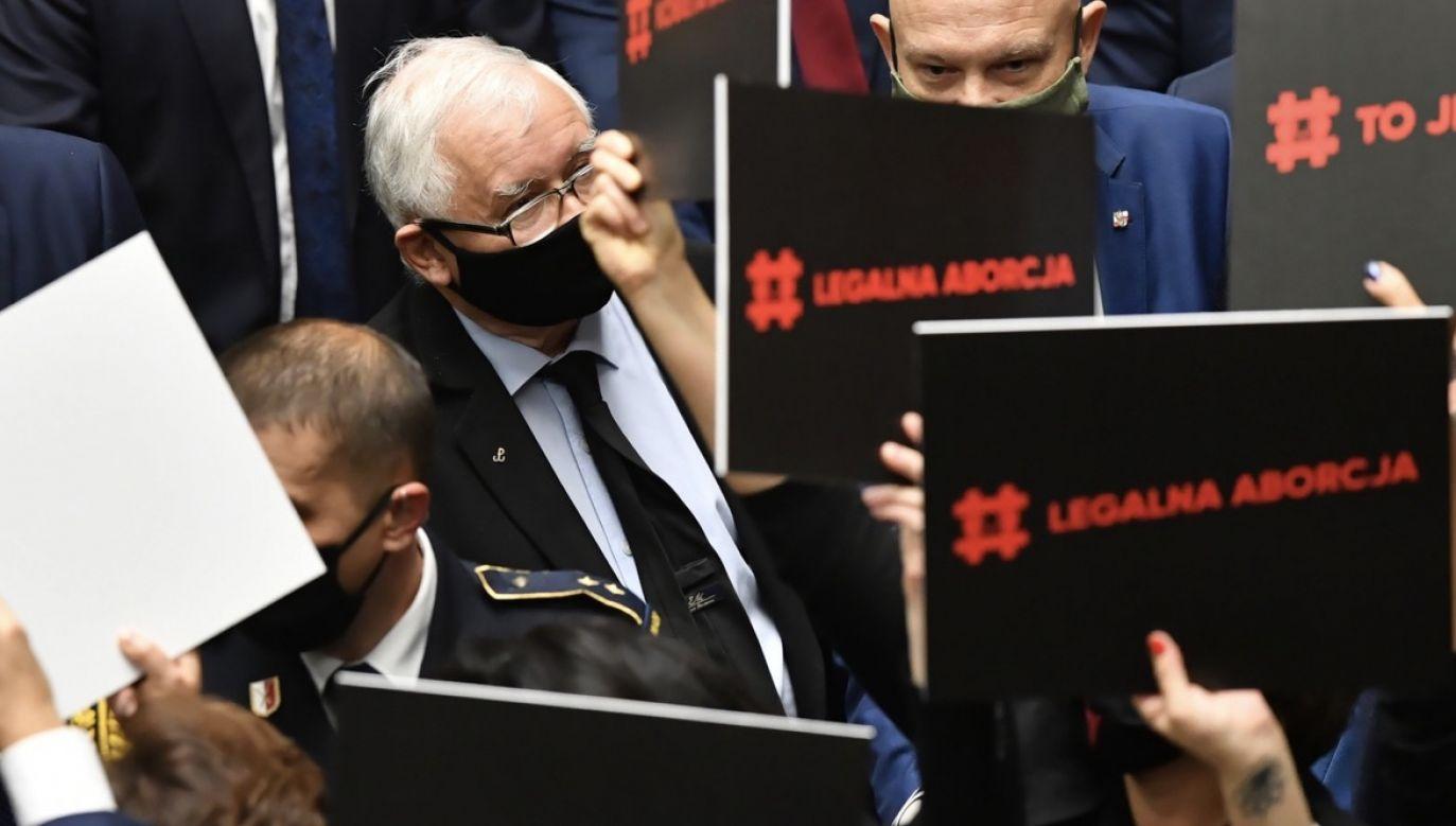 Sejmowy protest posłanek opozycji w sprawie aborcji (fot. PAP/Piotr Nowak)