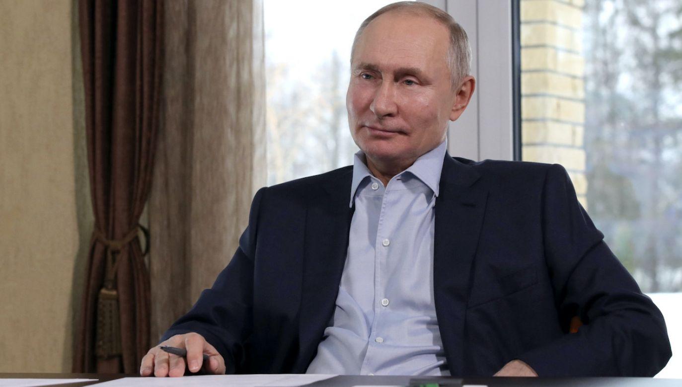 Władimir Putin (fot. PAP/EPA/M.KLIMENTYEV/SPUTNIK/KREMLIN)