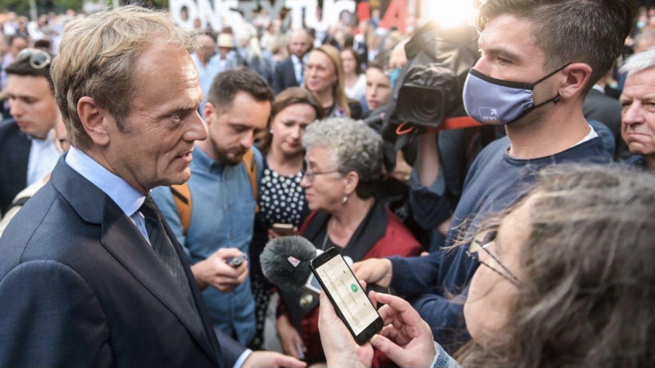 Cezary Tomczyk widziałby Donalda Tuska w polskiej polityce (fot. M.Slodkowski/SOPA/LightRocket/Getty Images)
