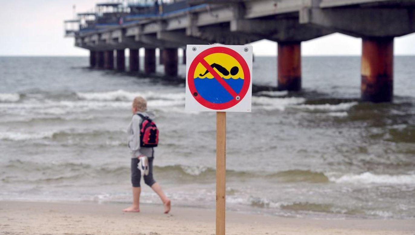 O zakazie kąpieli przypomina Pomorski Państwowy Wojewódzki Inspektor Sanitarny (fot. arch. PAP/Marcin Bielecki)