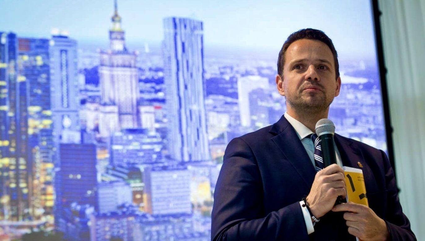 Prezydent Warszawy znów zaatakował Zjednoczoną Prawicę (fot. Mateusz Wlodarczyk/NurPhoto via Getty Images)