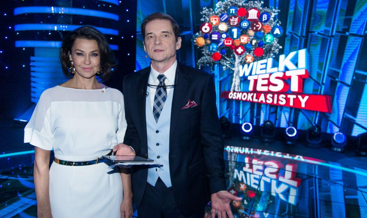 Zabawę poprowadzili Anna Popek i Przemysław Babiarz (fot. Jan Bogacz/TVP)