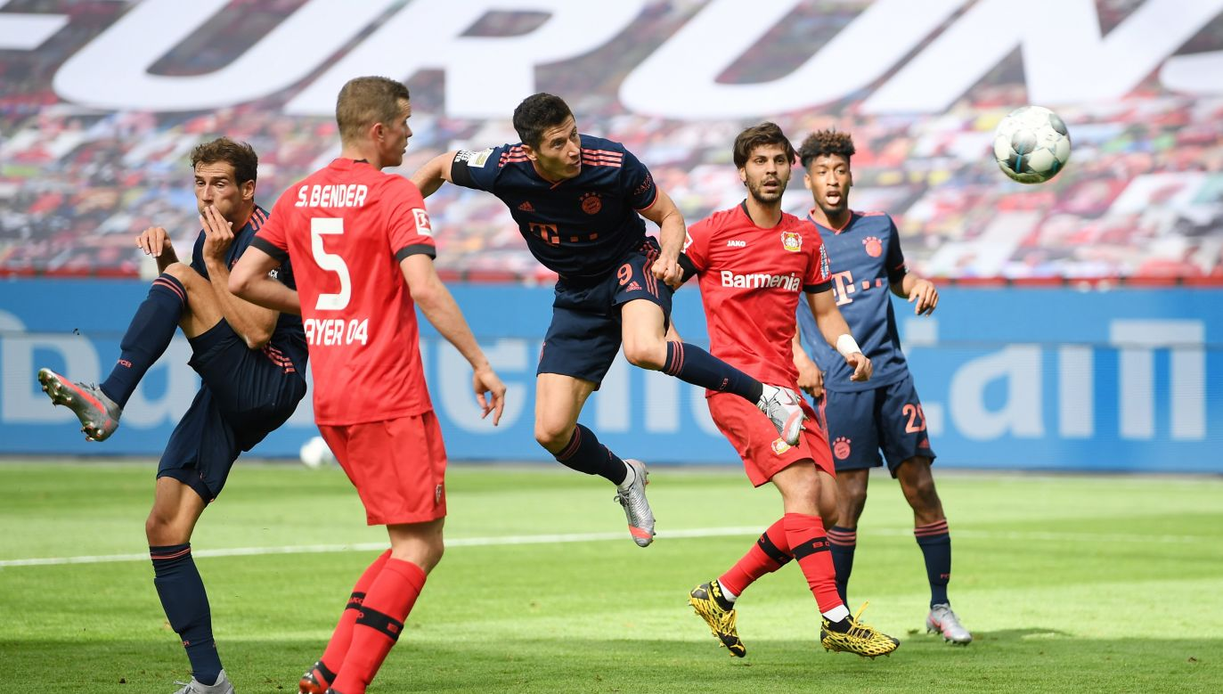 With four more games until the competition ends, Robert Lewandowski has already equalised his career-best league result. Photo:	PAP/EPA/MATTHIAS HANGST