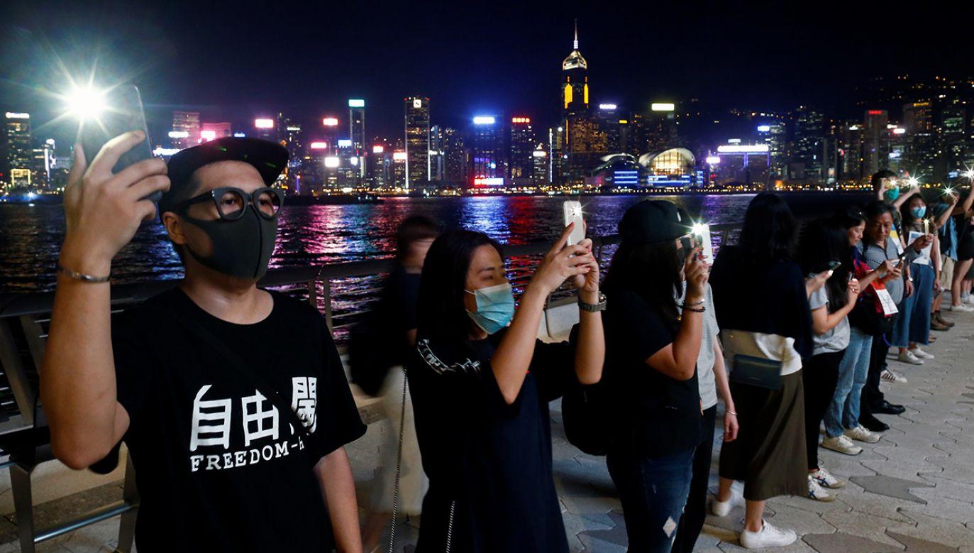 Protesty w Hongkongu trwają od czerwca br. (fot. REUTERS/Thomas Peter)