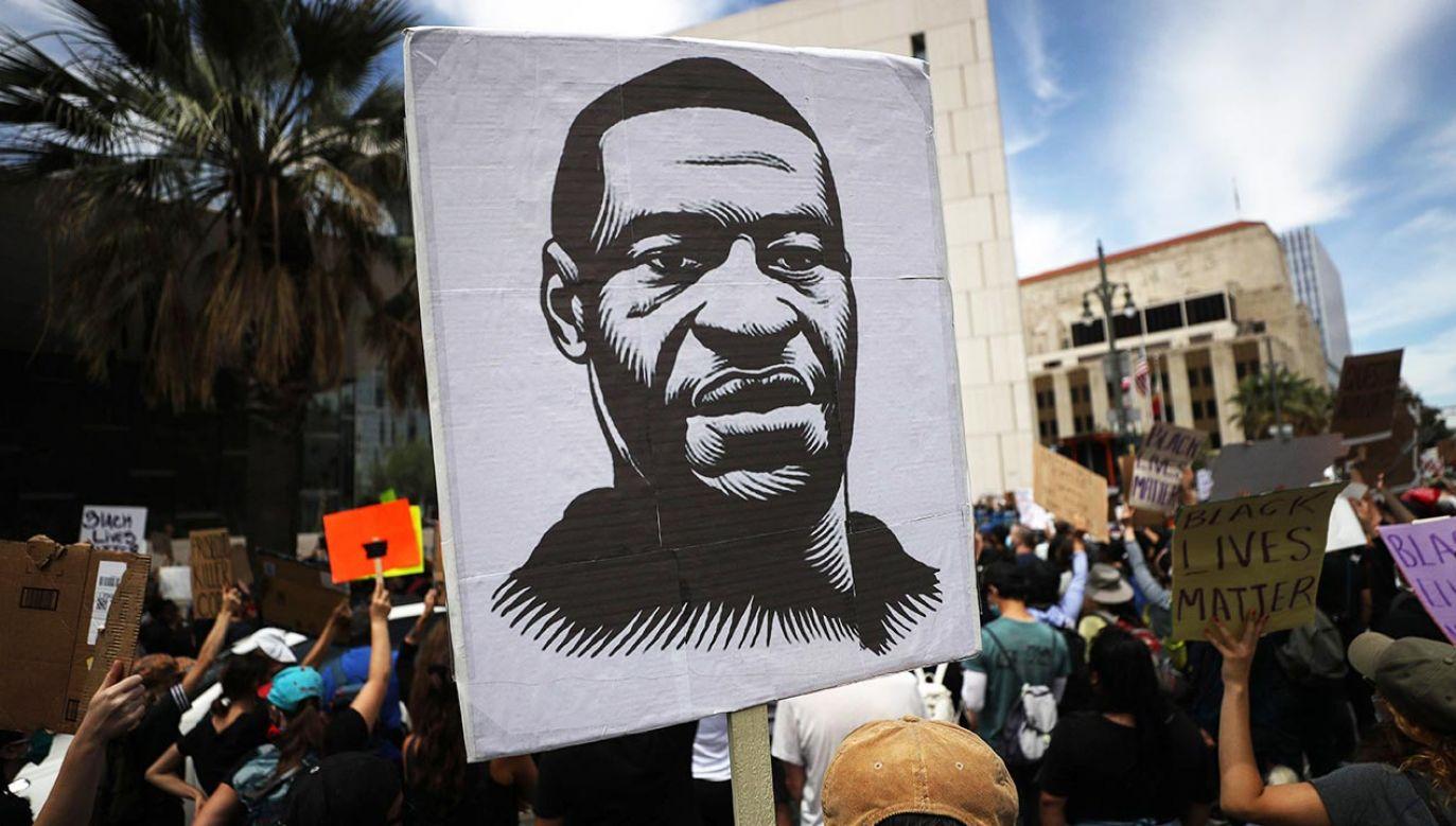 Floyd stał się ikoną walki o sprawiedliwość rasową (fot. Mario Tama/Getty Images)