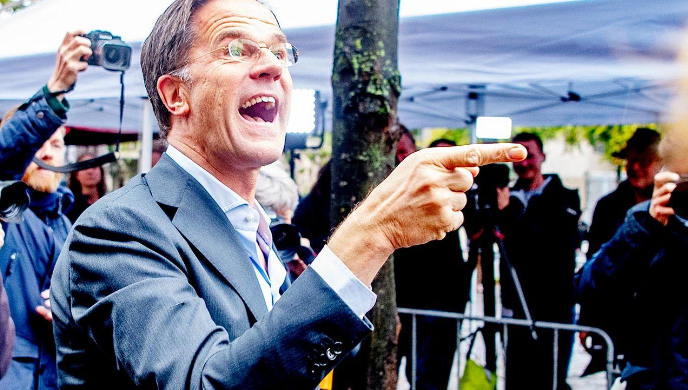 Premier Holandii Mark Rutte (fot. Patrick van Katwijk/BSR Agency/Getty Images)