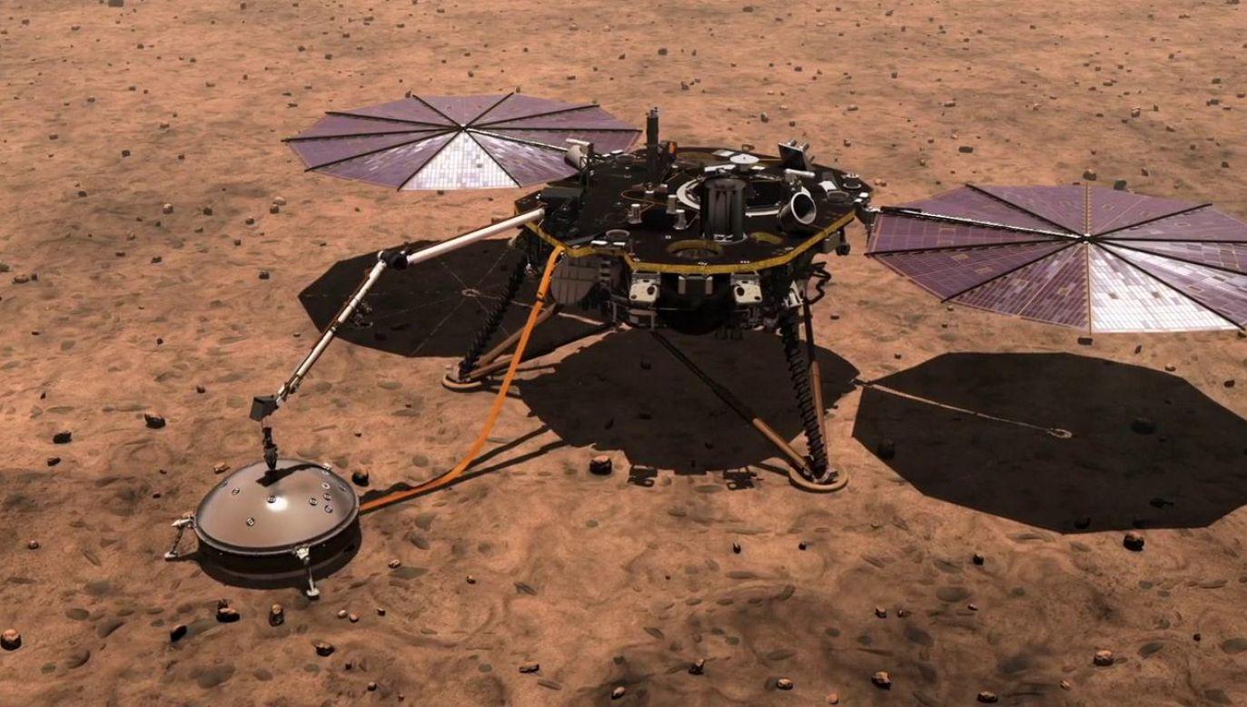 Głównym celem misji było zdobycie informacji o budowie wewnętrznej Czerwonej Planety (fot. NASA)