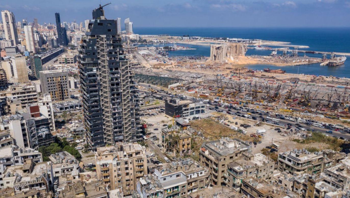 4 sierpnia w bejruckim porcie doszło do potężnej eksplozji saletry amonowej (fot. Haytham Al Achkar/Getty Images)