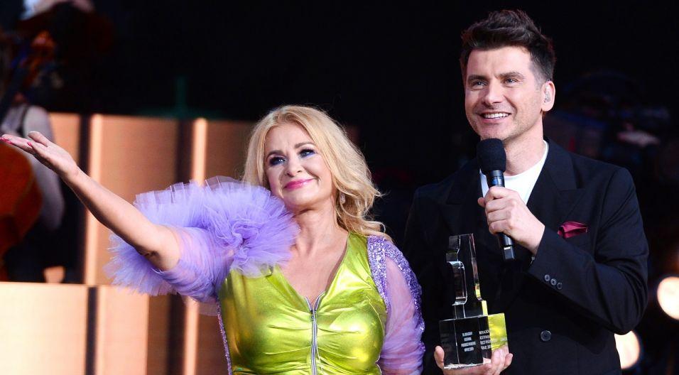 40-lecie działalności na scenie świętowali Majka Jeżowska oraz Felicjan Andrzejczak (fot. TVP/ Jan Bogacz)
