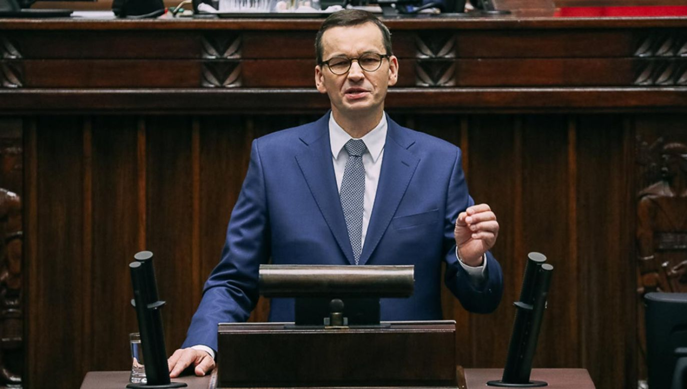 Premier odpowiadał na pytania posłów (fot. Adam Guz/KPRM)