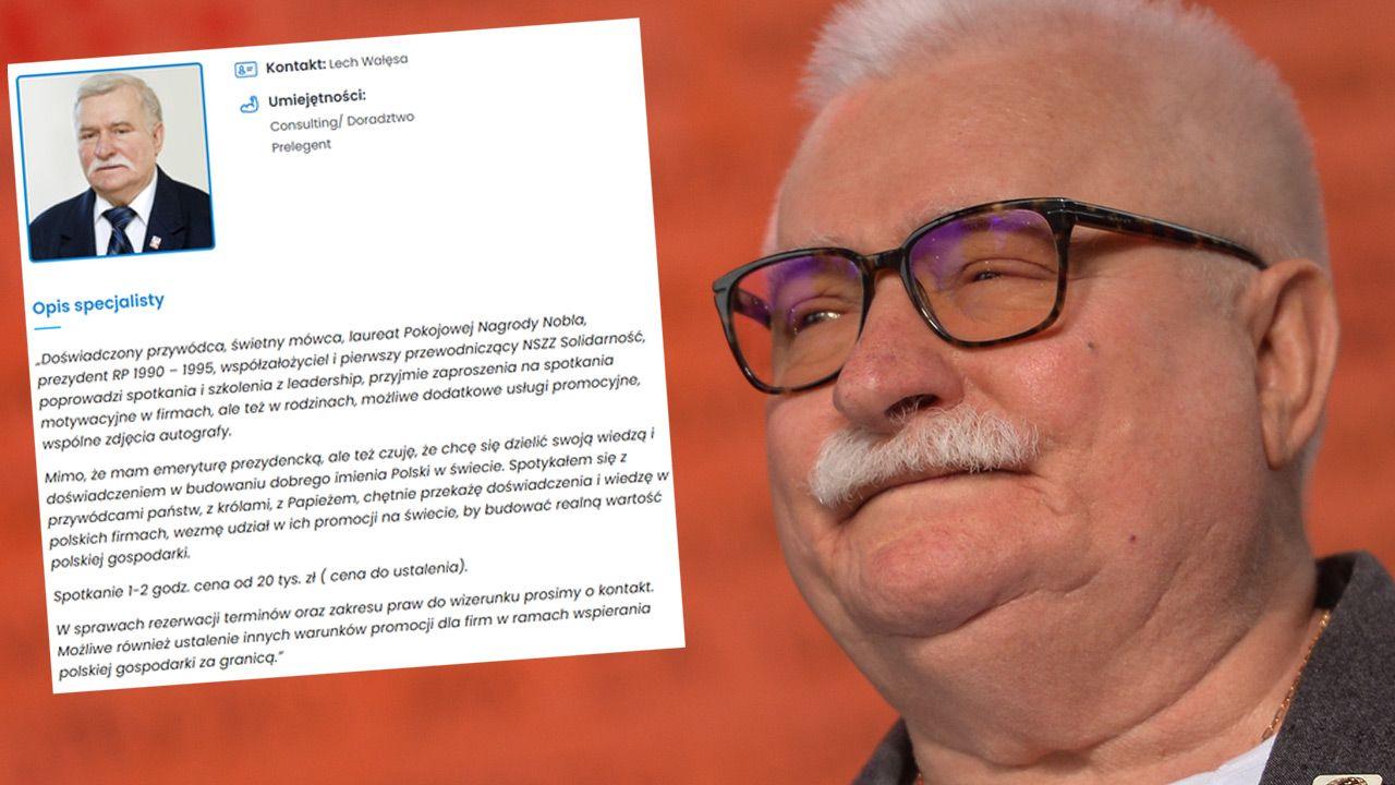 Lech Wałęsa szuka pracy w internecie (fot. Artur Widak/NurPhoto via Getty Images)
