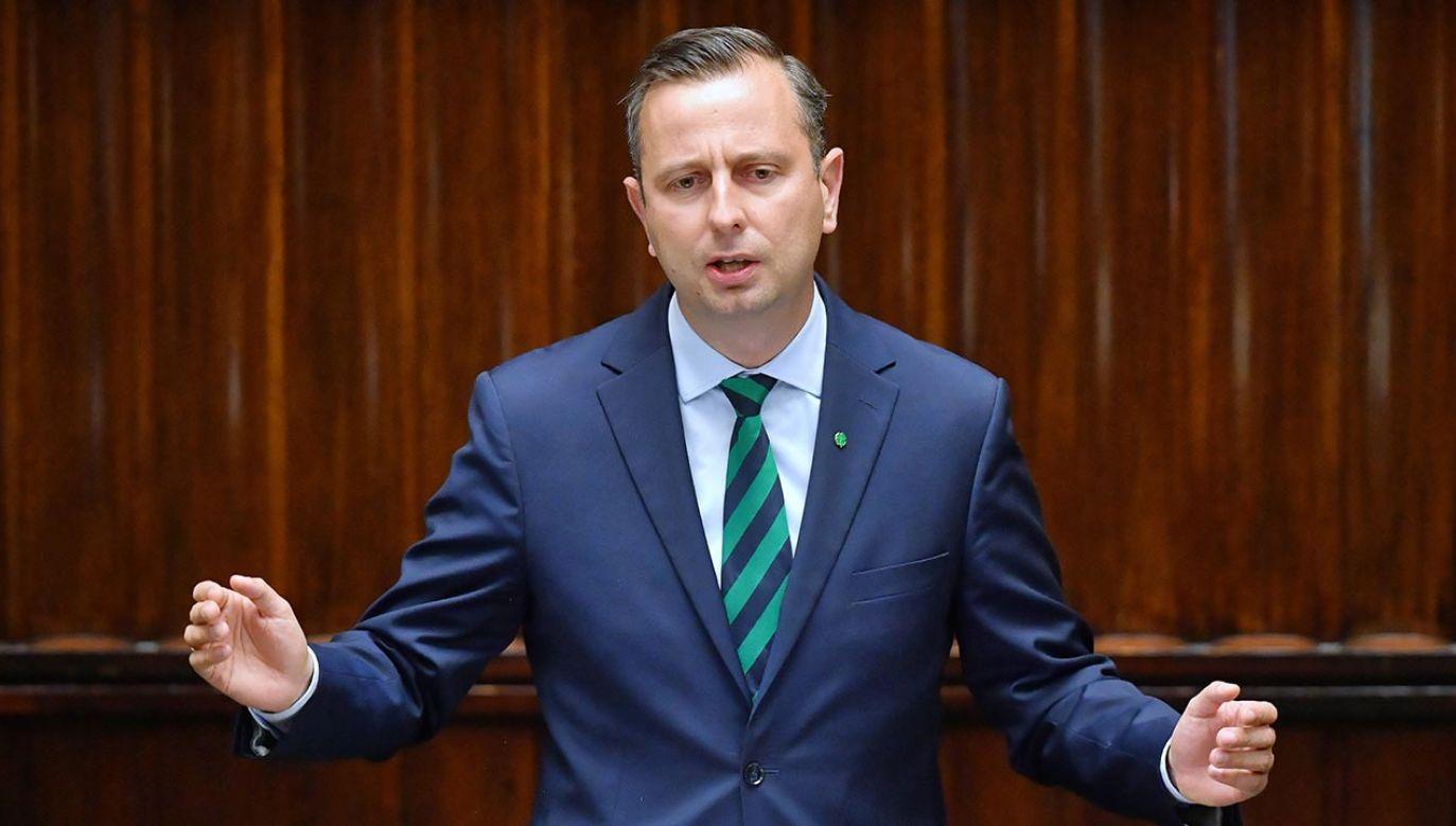 Lider PSL liczy także na głosy formacji rządzącej (fot. PAP/Radek Pietruszka)