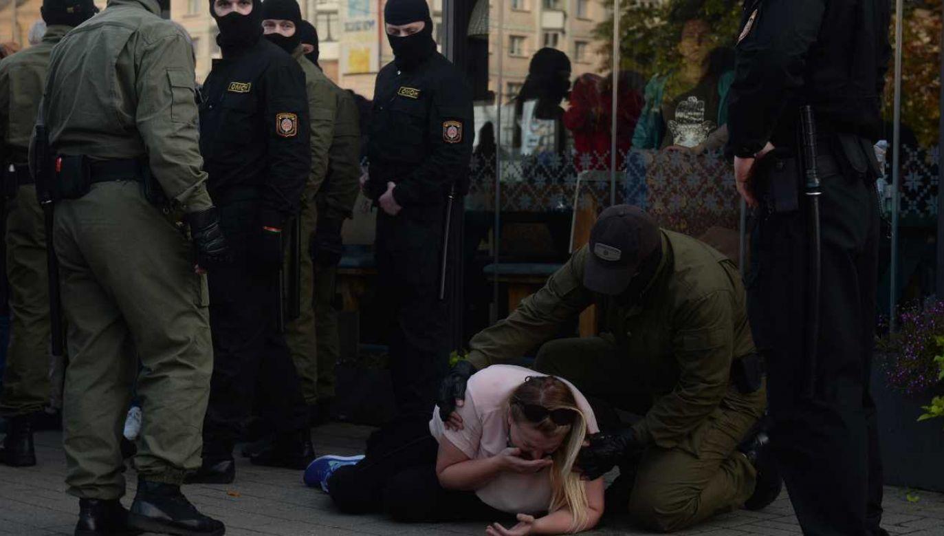 Białoruś jest oskarżana o łamanie praw człowieka (fot. PAP/EPA/STR)