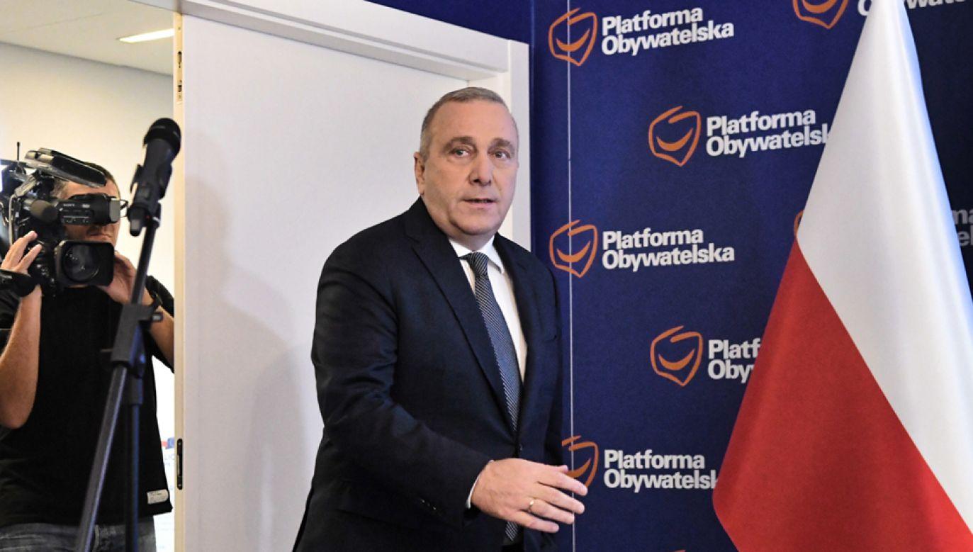 Przewodniczący PO Grzegorz Schetyna (fot. PAP/Piotr Nowak)