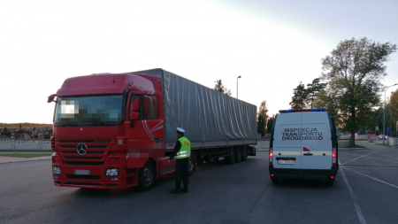 Zatrzymana ciężarówka (fot. GITD)
