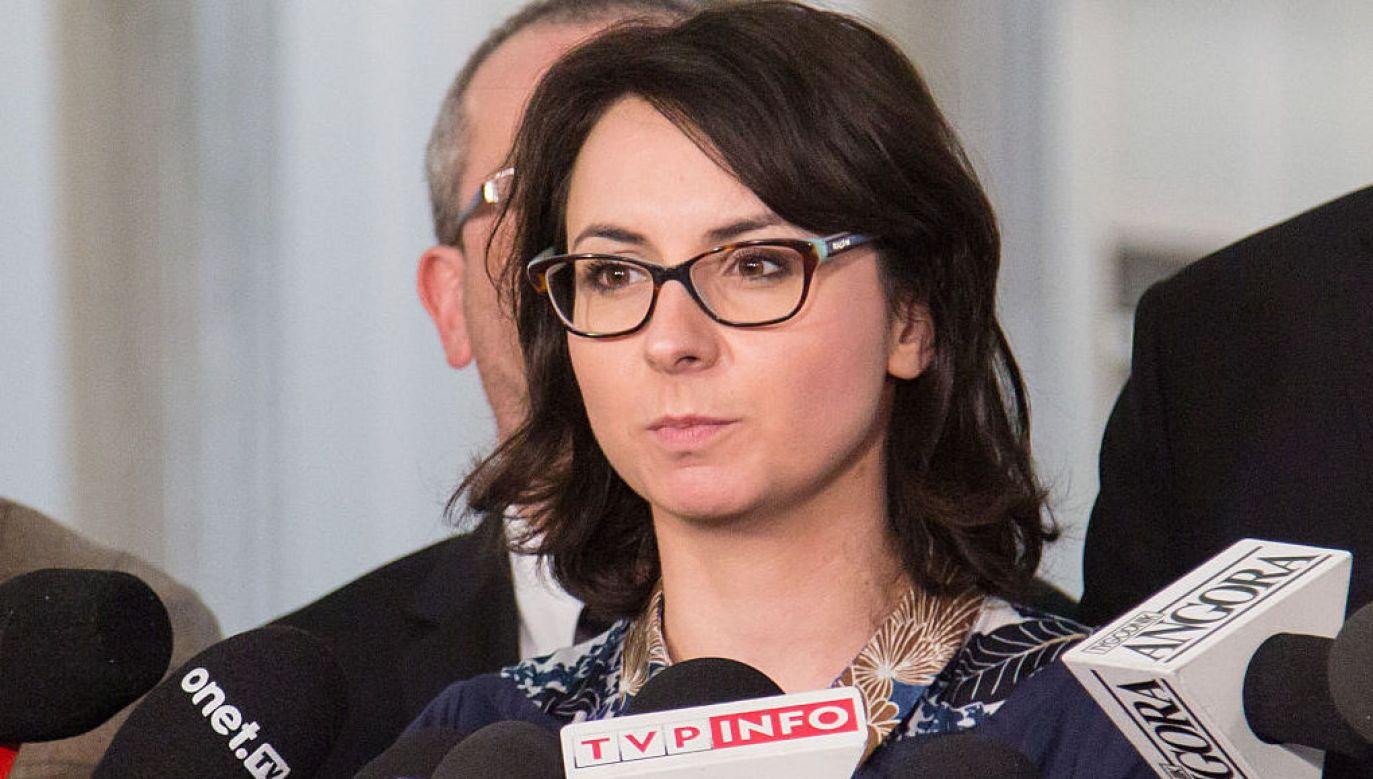 Kamila Gasiuk-Pihowicz o praworządności w UE (fot. Mateusz Wlodarczyk/Pacific Press via Getty Images)