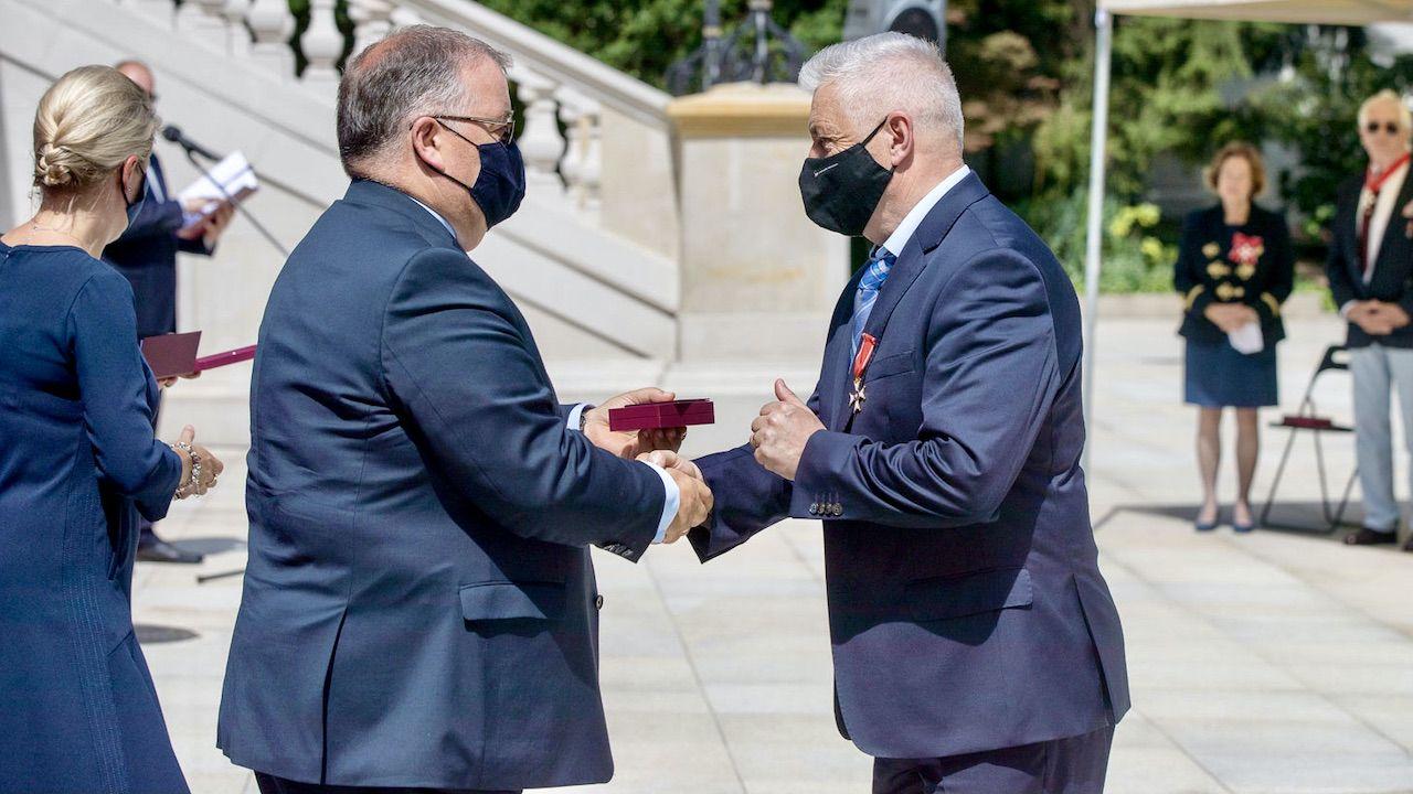 Wręczenie odznaczeń w Pałacu Prezydenckim (fot. Marek Borawski/KPRP)