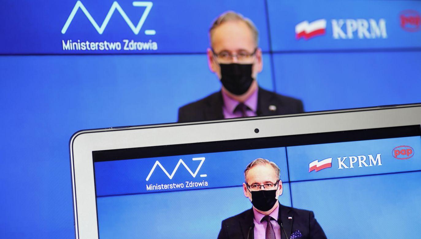 Minister zdrowia Adam Niedzielski (fot. Marcin Obara/PAP)