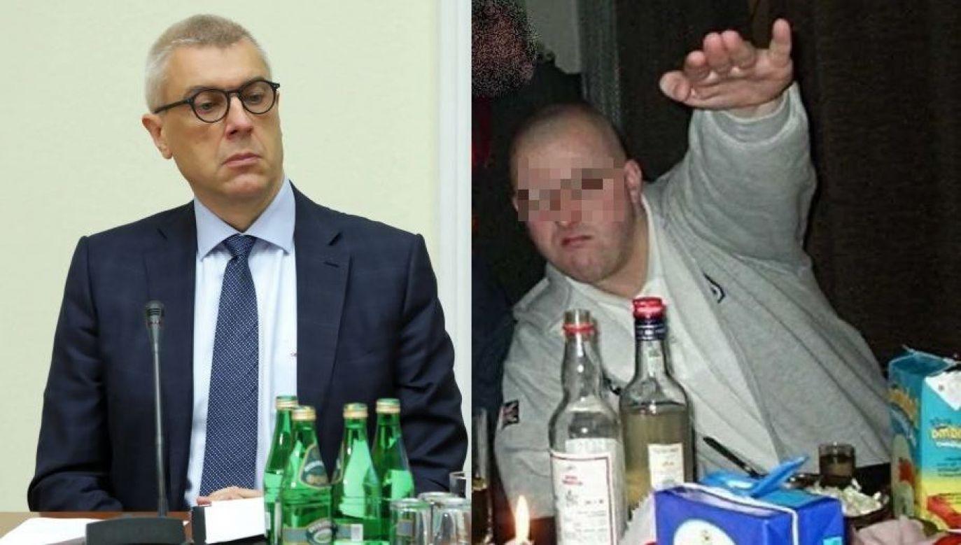 "Roman Giertych i Sebastian J., ps. ""Foka"" (fot. tvp.info i arch. PAP/Tomasz Gzell)"