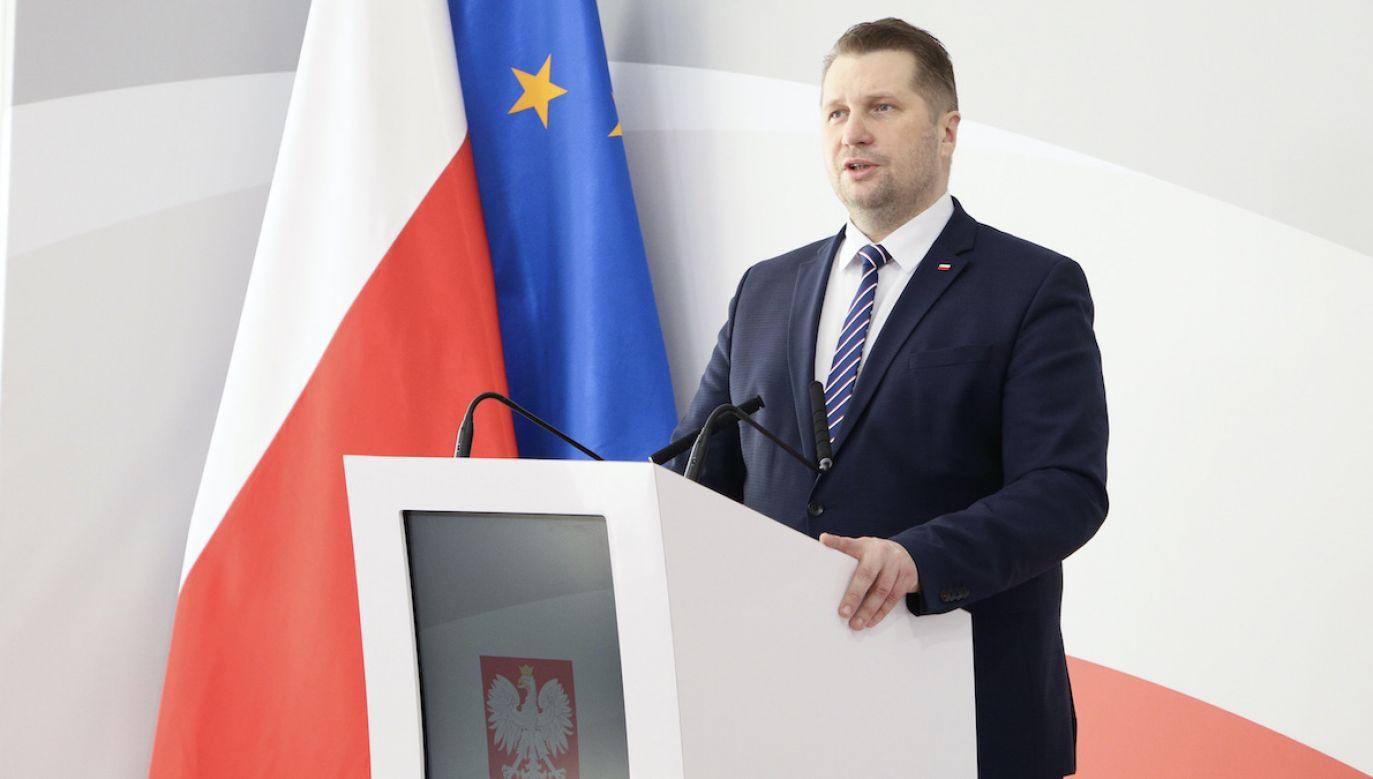Konferencja ministra Czarnka (fot. @MEIN_GOV_PL)