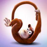 Orangutan prezentuje samogłoskę O (fot. Minds Up)