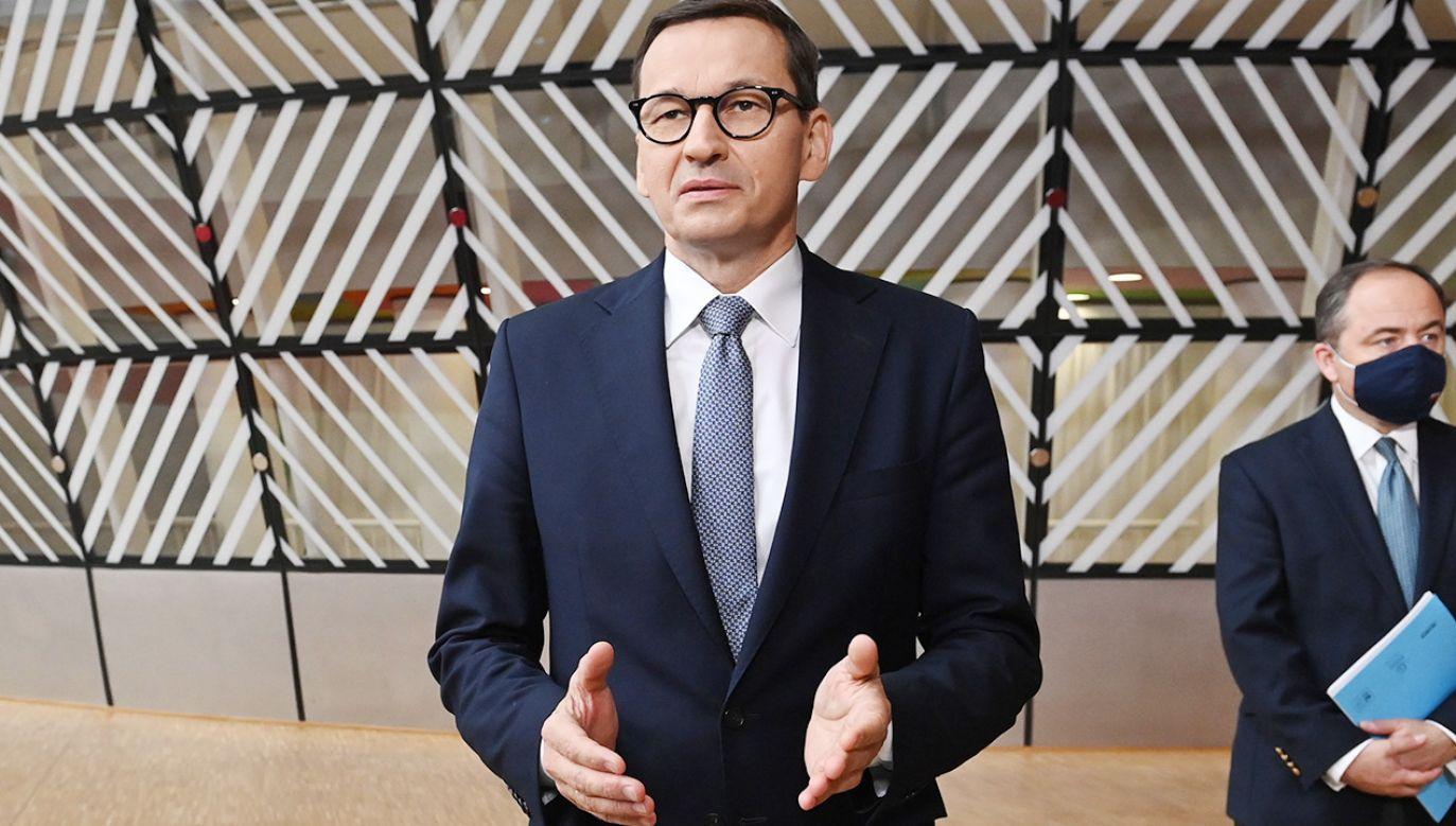 Premier Mateusz Morawiecki (fot. PAP/EPA/JOHN THYS / POOL)