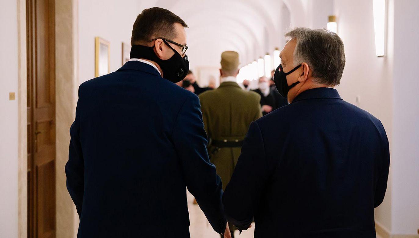 Mateusz Morawiecki rozmawiał dziś z Viktorem Orbanem (fot. Krystian Maj/KPRM, zdjęcie ilustracyjne)