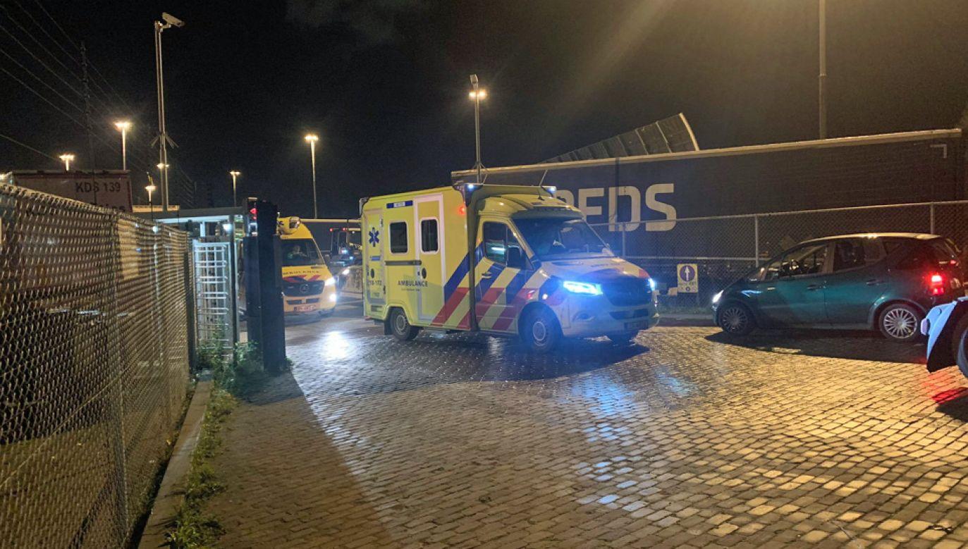Imigranci trafili do szpitala (fot. TT/Mike Bos)