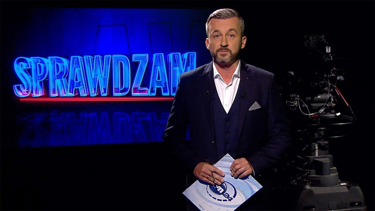 """Krzysztof Skórzyński był autorem magazynu """"Sprawdzam"""" (fot. TVN24)"""