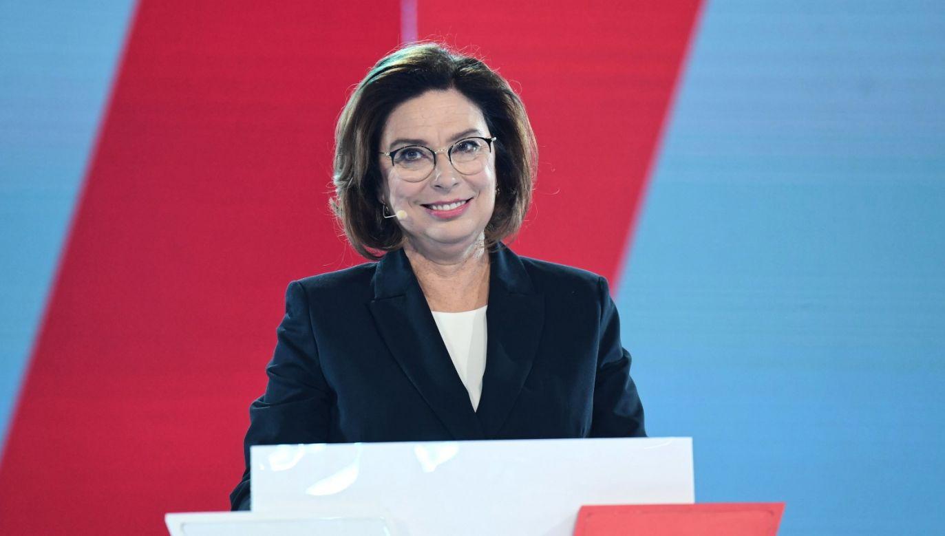 Słowa padły na konwencji kandydatki PO na prezydenta (fot. PAP/Piotr Nowak)