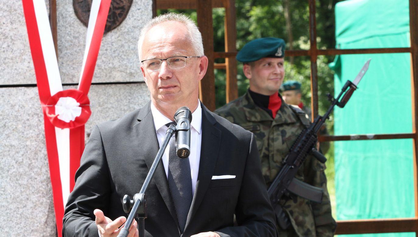 Wiceprezes IPN, profesor Krzysztof Szwagrzyk (fot. PAP/Krzysztof Świderski)