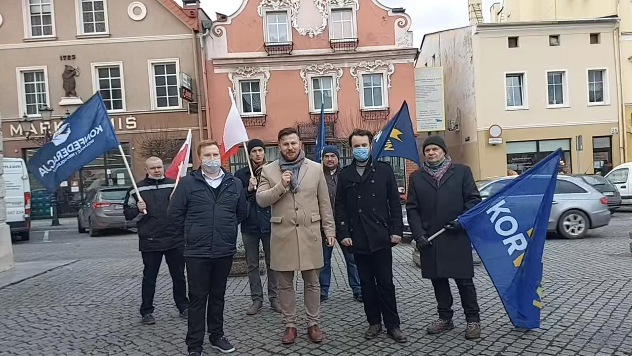 Wydarzenie zgromadziło siedem osób (fot. Facebook/KORWiN - Opole)