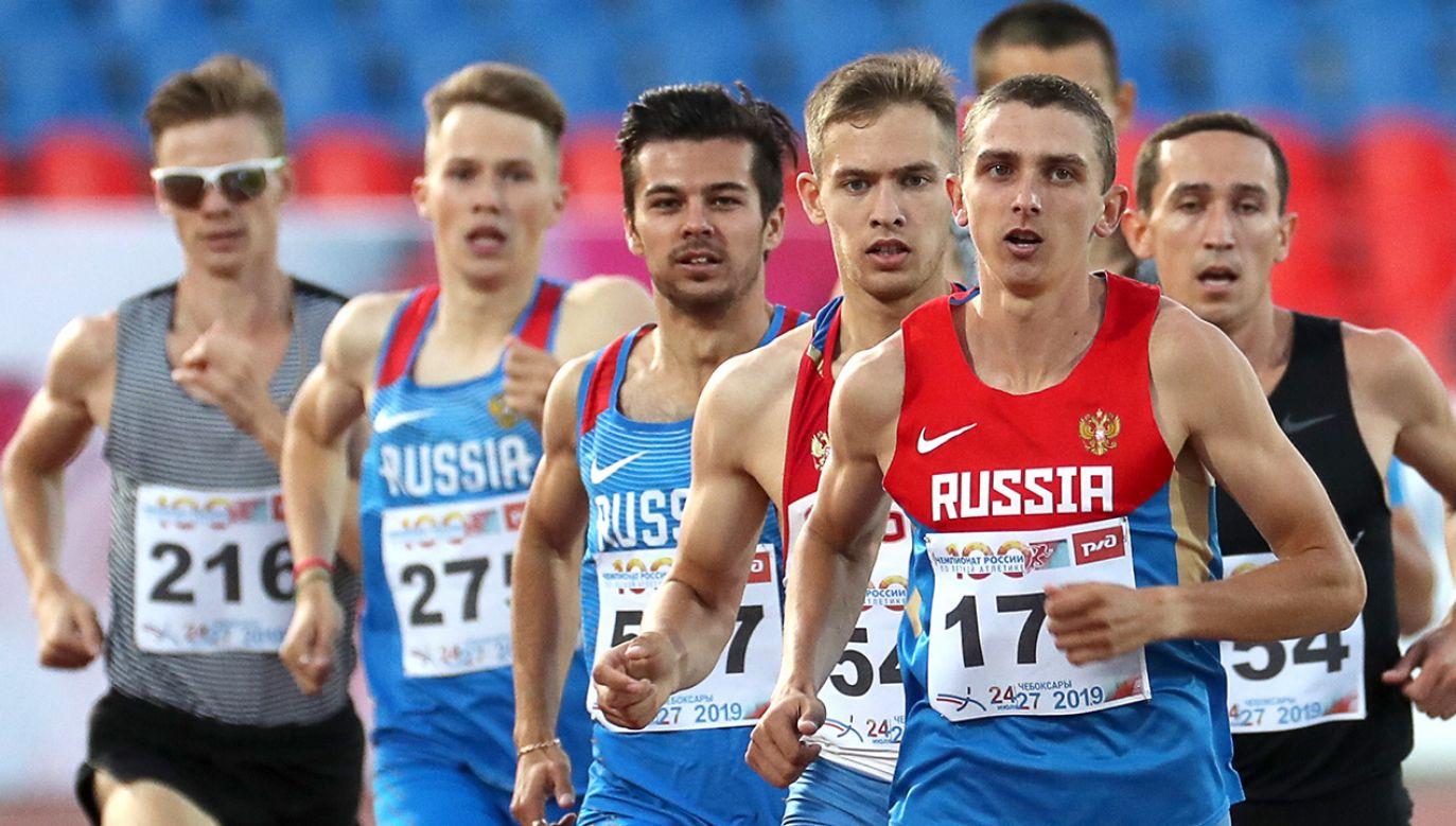 Rosjanie nie będą mogli startować pod własną flagą (fot. Sergei Fadeichev\TASS via Getty Images)