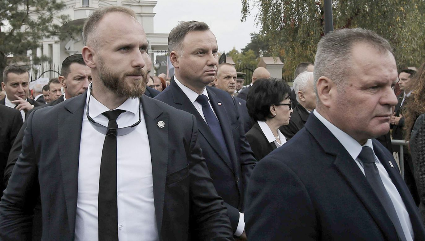 Uroczystości pogrzebowe prof. Jana Szyszki (fot.PAP/Leszek Szymański)