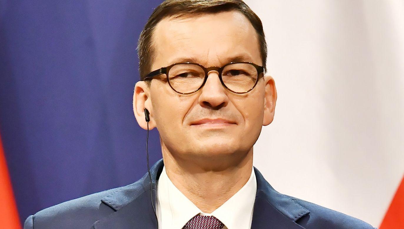 Premier Mateusz Morawiecki (fot. PAP/Andrzej Lange)