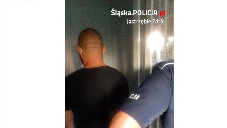 Zatrzymany mężczyzna (fot. Policja Śląska)