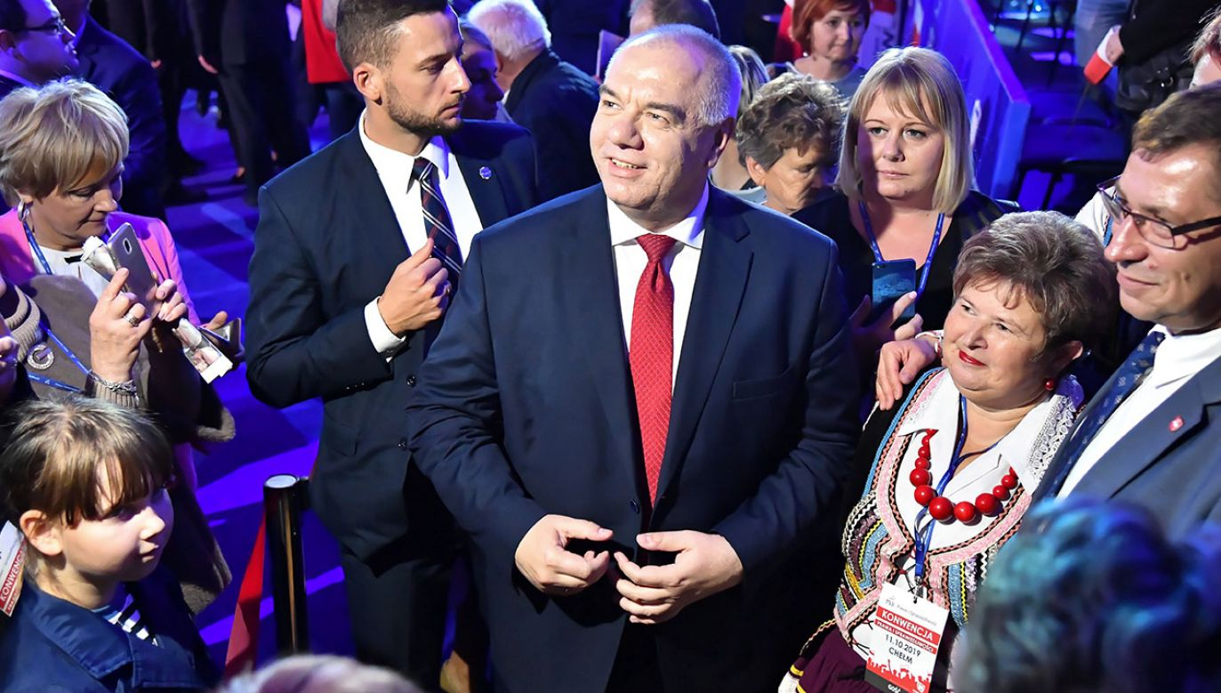 Wicepremier Jacek Sasin o wyniku wyborów (fot. PAP/Wojtek Jargiło)