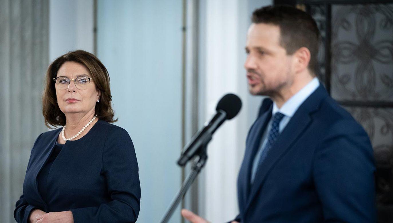 Rafał Trzaskowski w maju zastąpił Małgorzatę Kidawą-Błońską jako kandydat KO na prezydenta (fot.  Forum/Mateusz Wlodarczyk)