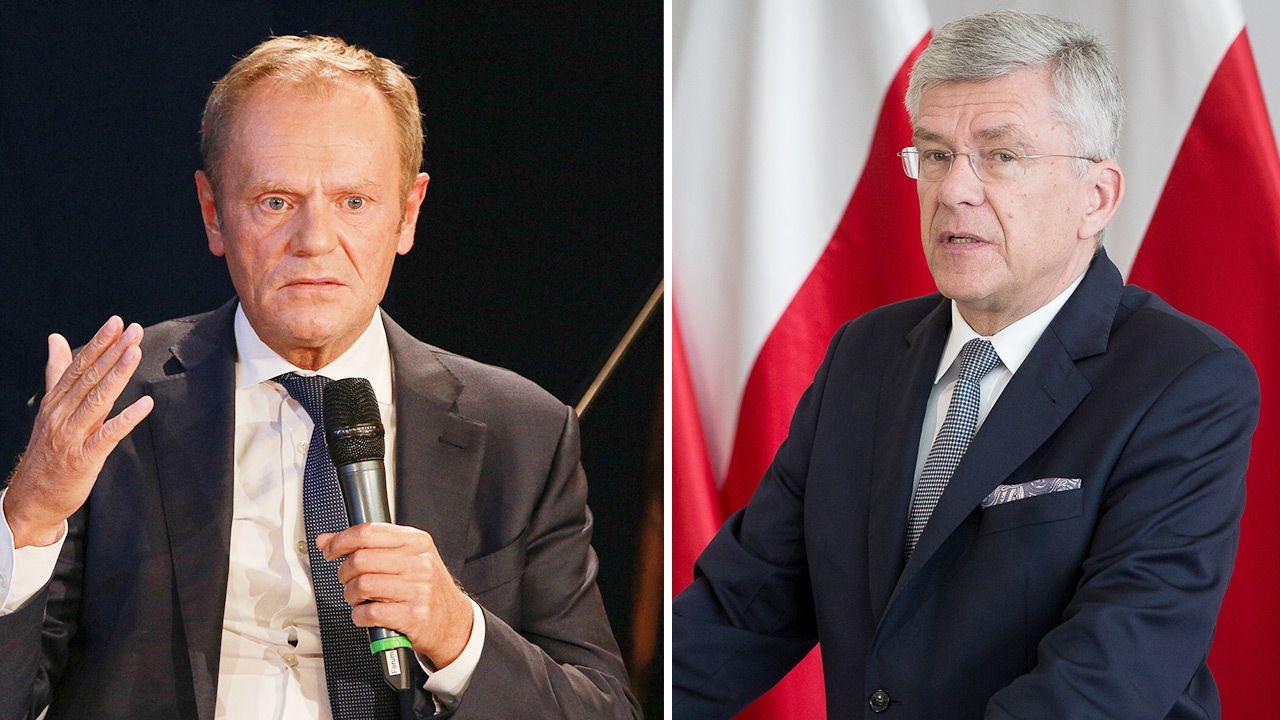 Donald Tusk i Stanisław Karczewski (fot. Getty Images)