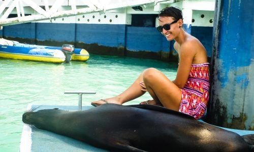 Na przystani w Puerto Ayora na Galapagos (fot. T. Bogusz)